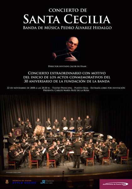 cartel concierto Santa Cecilia, Jacob de Haan, Pedro Álvarez Hidalgo